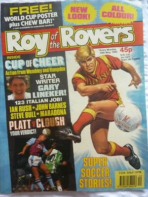 Roy of the Rovers Comic 19 05 1990 Exc