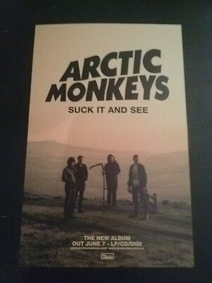 Arctic Monkeys poster - Suck It and See - 11x17 double sided