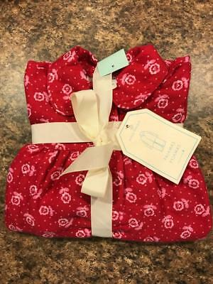 Pottery Barn Kids New Floral Flannel Nightgown Red Pajamas size 4 Christmas](Christmas Nightgowns Kids)