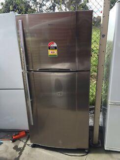 4.5 starstainless steel large/ 532 liter Toshiba fridge , can del