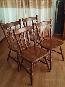 4 wooden chairs Hornsby Hornsby Area Preview
