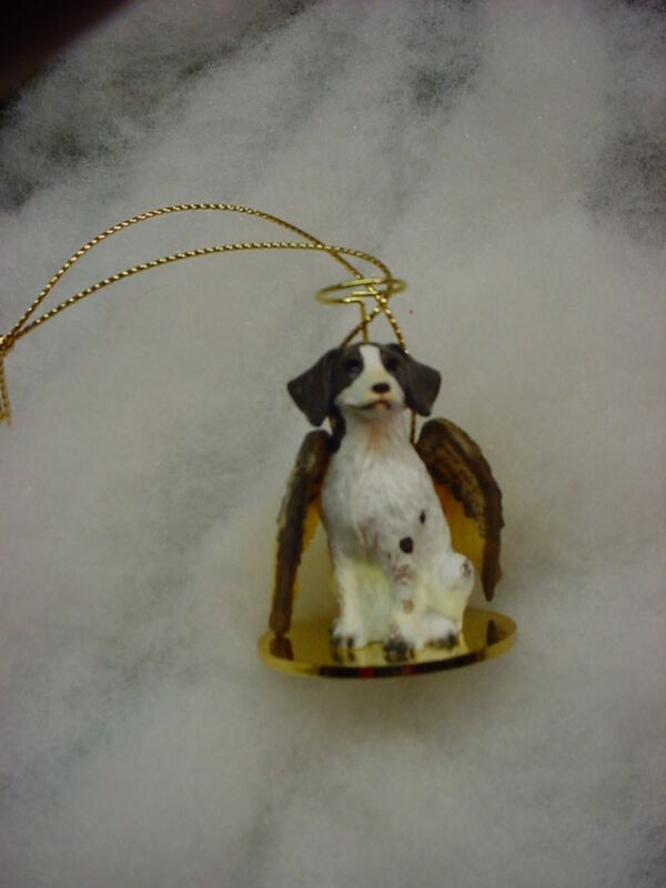 BRITTANY LIver Brown Spaniel DOG ANGEL Ornament HAND PAINTED Resin FIGURINE New