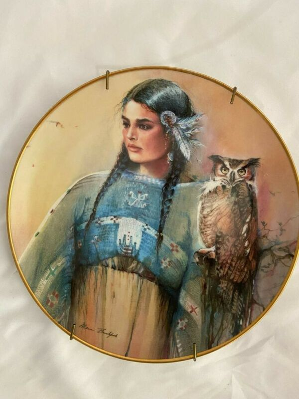 """PRINCESS OF WISDOM Collector's Plate 8"""" Marie Buchpink"""