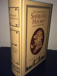 CONAN-DOYLE-ADVENTURES-OF-SHERLOCK-HOLMES-LEATHER-BOUND-HARDBACK-BOOK