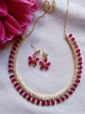 Indian Gold Jewelry - Indian Women Necklace Set Gold Plated Fashion Jewelry Zircon Bollywood Style