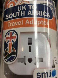 UK, England,& Europe to South Africa Mains Travel Adaptor Plug adapter-SMJ