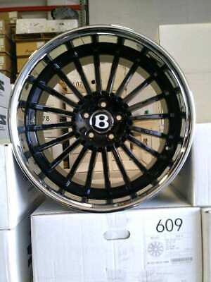 20-inch Bentley Continental GT GTC Flying Spur GTX59 Gloss Black 5x112 Lugs