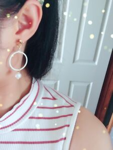 Circle fashion earring for women party dating