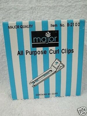 MAJOR ADVANCE All Purpose Stainless Steel Professional Curl Clips ~ (80 Clips) Curl Clips Stainless Steel