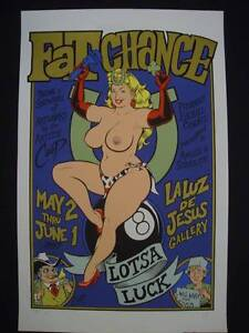 Fat Chance - Limited Edition screenprint '97 by Coop Clayfield Brisbane North East Preview