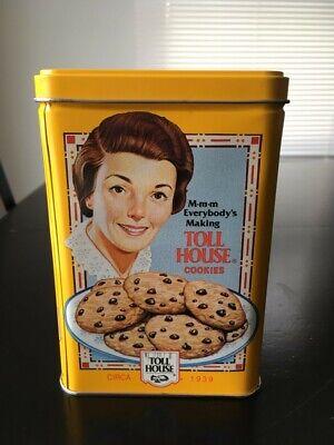Vintage Nestle Toll House Yellow Cookie Tin