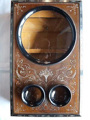 Stereobetrachter: Großer Tischbetrachter aus Holz, Pantoscope, wohl A. Mattey