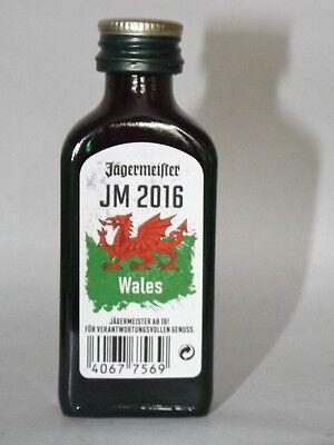 Jägermeister mini flaschen  EM 2016 JM Wales Sonderedition 0,02 ml 35% vol