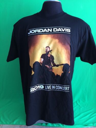 JORDAN DAVIS 2019 Live In Concert VIP Limited Edition Black T-Shirt LARGE NEW