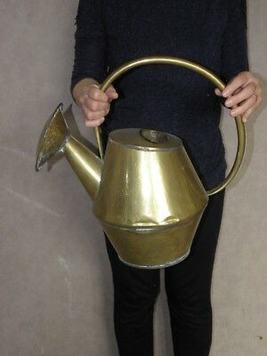 vintage watering can brass goardere Jar flower plants Garden retro