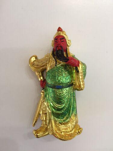 FENG SHUI GOLDEN  KWAN KUNG KUAN GONG STATUE FIGURINE