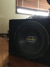 Coustic 12inch sub with clarion amp Tullamarine Hume Area Preview