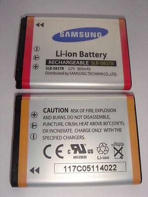 BATERÍA original SAMSUNG SLB-0837B SLB-0837 AUTÉNTICO batería L83T SL201 NUEVA