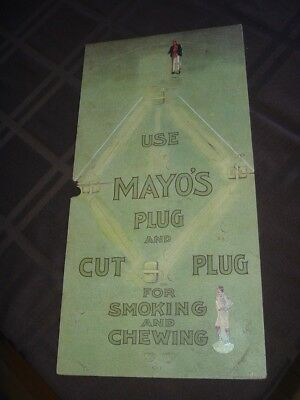 1896 N301 Mayo's Cut Plug Tobacco Baseball Game Board + 2 Player Game Pieces