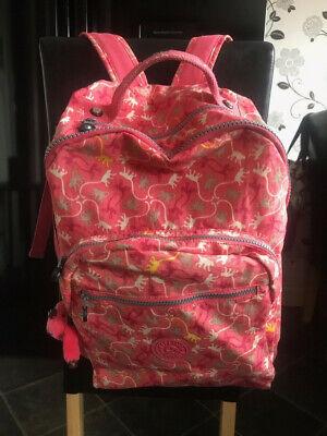 ** KIPLING large pink rucksack backpack (FREE POST)! **