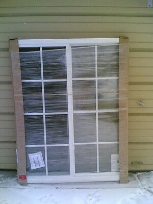 BRAND NEW:  Big White VINYL House SLIDER WINDOW with Grids 48x60