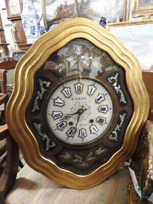 Wonderful Antique Wall Clock 'Bullseye' Alabaster