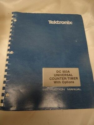 Tektronix Dc503a Universal Countertimer With Options Instruction Manual