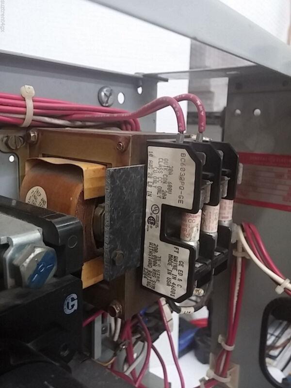 General Electric GE 90 Amp Fused Feeder MCC Bucket FVNR 600AC w/starter (MS053)