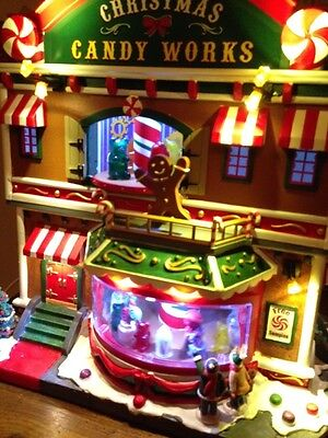 NEW 2016 LEMAX CHRISTMAS VILLAGE CANDY WORKS w/SIGHTS & SOUNDS Animated