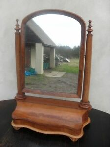 Victorian-Serpentine-Fronted-Flame-Mahogany-Mirror