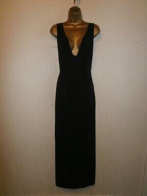 Petite Cowl Neck (BNWT - Boohoo Petite - Black Cowl Neck Cross Back Strap Maxi Dress - UK 8/EU 36)