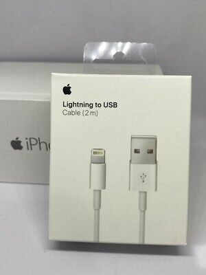 2m Genuine Apple Lightning USB Data Sync Charger Cable For iPhone X 8 7 6 XS 11