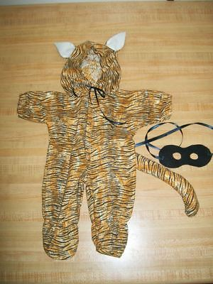TIGER CAT HALLOWEEN COSTUME W/ TAIL EARS +MASK for 16-17