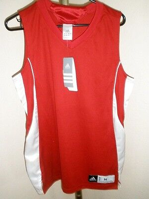 New Women's SAMPLE Adidas Red/White Baseketball Team Jersey Size Medium
