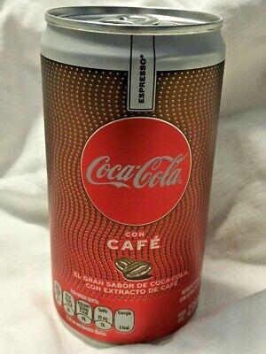 2 MEXICAN COKE COCA COLA COFFEE MEXICO USA TEXAS SELLER! CAFE ESPRESSO NO SUGAR