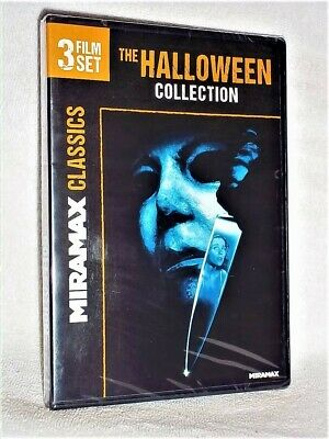 The Halloween 3-Film Set (DVD, 2014) H2O Resurrection Curse of Michael Myers NEW