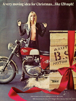 1971 BSA THUNDERBOLT 650 VINTAGE MOTORCYCLE AD POSTER 36x28 9MIL PAPER