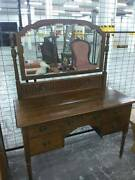 Unique Antique Dressing Table with Nice Large Mirror - BARGAIN! Heidelberg Heights Banyule Area Preview