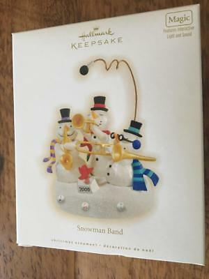 - Hallmark Keepsake Ornament Snowman Band 2009 Magic Light Sound NIB Snowmen
