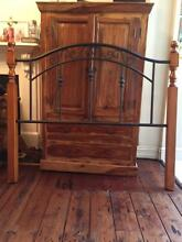 Double bed frame solid timber and metal. Excellent condition Petersham Marrickville Area Preview