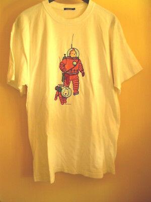 """TINTIN"" T shirt blanc  T L"