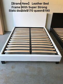 Brand new leather bed frame with super strong slats queen$190 only