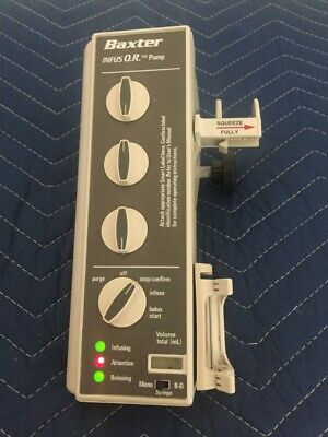 Baxter Bard Infus O.r. Syringe Pump W Pole Clamp