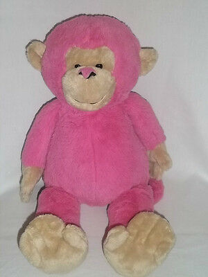 "GANZ 17"" Plush CUDDLE DOOS MONKEY Pink Tan Soft Large Stuffed Animal Toy"