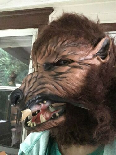 Vintage Made in USA Halloween Werewolf Mask Howl o Ween Rubber Scary