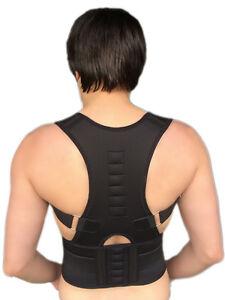 Rückenbandage Rückenhalter Haltungskorrektur Geradehalter Stabilisator Schwarz