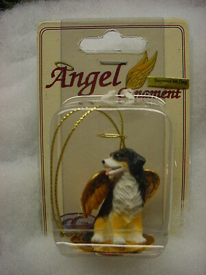 Angel Collectible Dog Ornament - BERNESE MOUNTAIN DOG ANGEL Ornament HAND PAINTED FIGURINE Christmas COLLECTIBLE