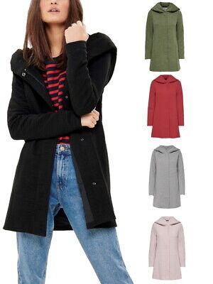 ONLY Damen Woll Mantel onlSedona Link Spring Coat Jacke Kurzmantel mit Kapuze - Mantel Damen Kurz Wolle Jacke