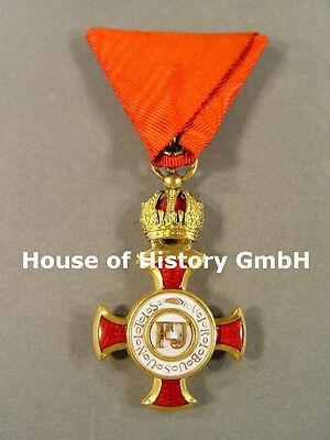 Österreich: Goldenes Verdienstkreuz mit der Krone des Franz Joseph Orden, GOLD