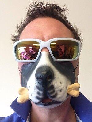 Hund-Maske Lustig Halbes Gesicht Tier Knochen Verkleidung Kostümparty Maskerade